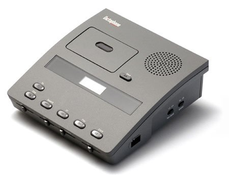 Dictaphone 3740 Microcassette Transcriber w/Foot Control-Headset-Power Supply by Dictaphone