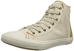 Levis Men's White Tab Hi Fashion Sneaker, Light Beige, 8 M US
