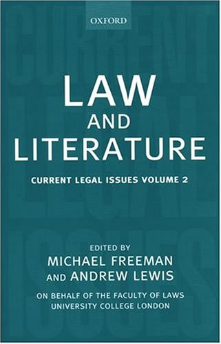 Law and Literature: Current Legal Issues 1999 Volume 2