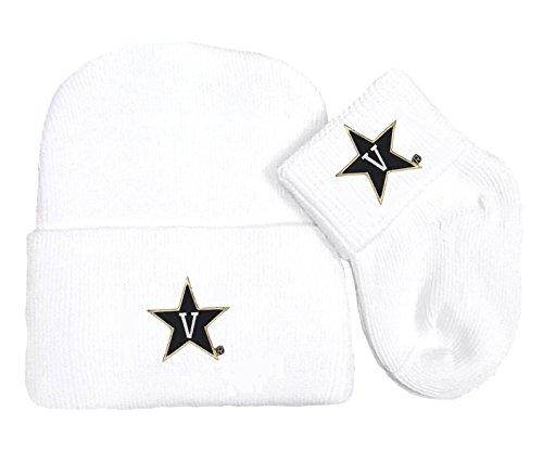 Future Tailgater Vanderbilt Commodores Newborn Baby Knit Cap and Socks Set