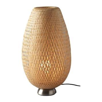 IKEA BOJA - Lámpara de mesa, niquelado, ratán: Amazon.es: Hogar