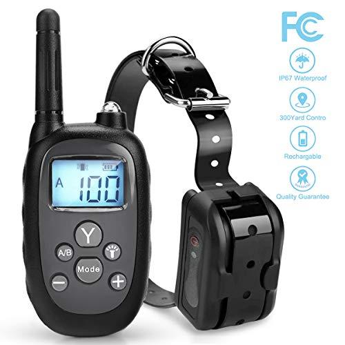 Vocti Dog Training Collar, 【2018 New Version】 1000ftDog Shock Collar Remote, WaterproofDog Bark Collar RechargeableElectronic Collar Trainning Dogs