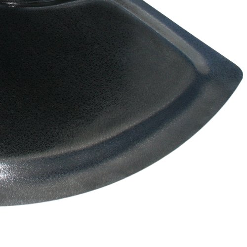 Rhino Mats BRH-3660SDSBK Rhino Hide Beauty Salon Non-Porous Vinyl Semi-Circle Mat, 3' Width x 5' Length x 7/8 Thickness, Black by Rhino Mats B00FXD14GI