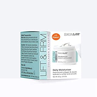 SKIN LAB BY BSL Lift and Firm DAILY MOISTURIZER - Hydrolyzed Collagen & Elastin, Vitamin C and Vitamin E to moisturize, soften and soothe fine lines and wrinkles 2.25 Oz. (63 g)