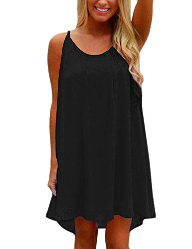 Yidarton Womens Summer Casual Sleeveless Evening Party Beach Dress