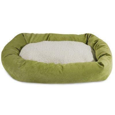 40 inch Vintage Villa Collection Sherpa Bagel Dog Bed by Maj