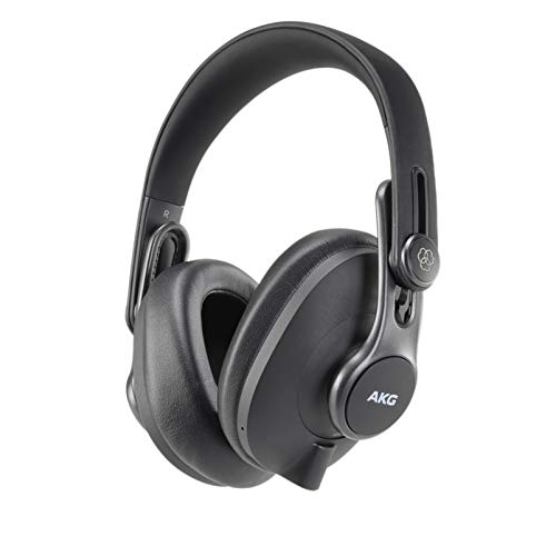 AKG K371BT Over Ear Foldable Studio Headphones With 40 Hour Battery Life, Bluetooth 5.0 and HD Microphones for Calls, Live Streams, Podcasting, Vlogging, Game Streaming
