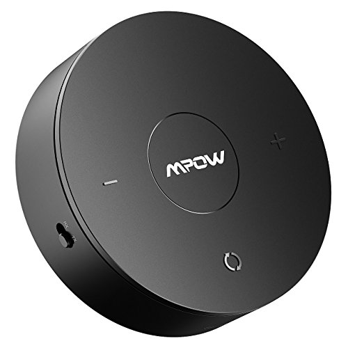 Mpow [New Version] Bluetooth 4.1 Receiver/Transmitter for Headphones, Speaker, TV, Car/Home Stereos, Bluetooth Transmitter with Longer Battery Life & Aptx for Low Latency,Black by Mpow