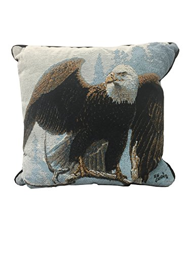 Scene Weaver Tapestry Pillow - The Perch Pillow (Eagle) 18
