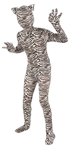 When I Grow Up Costume (Forum Novelties I'm Invisible Costume Stretch Body Suit, White Tiger, Child)
