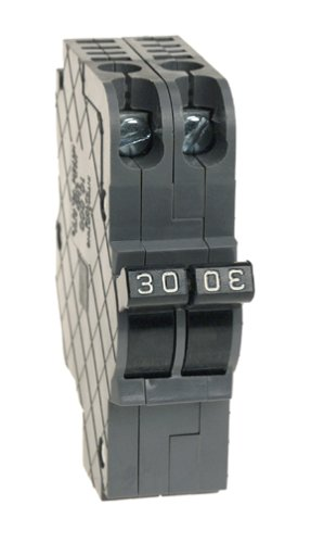 View-Pak UBIF0230 Unique Breakers Dual Pole Thin Federal Pacific Circuit Breakers 30a Thin Series