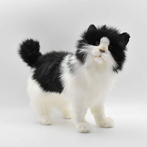 Hansa Cat Plush, Black/White