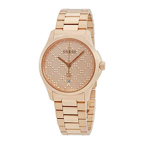 Gucci G-Timeless Mens Rose Gold-tone Watch YA126482