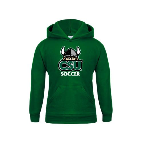 Cleveland State Youth Dark Green Fleece Hoodie Soccer