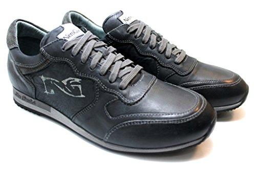 Nero Giardini P503711 Grigio e Antracite Sneakers Casual Sportive Scarpe Uomo
