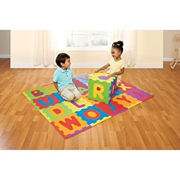 Amazon Com Spark Create Imagine Abc Foam Playmat Toys