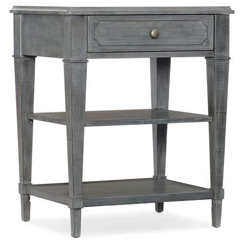 Hooker Furniture Hamilton 1 Drawer Bedside Table in Bluish Gray by Hooker Furniture