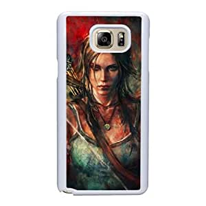 Custom made Case,Tomb Raider Cell Phone Case for Samsung Galaxy Note 5, White Case With Screen Protector (Tempered Glass) Free S-7305299