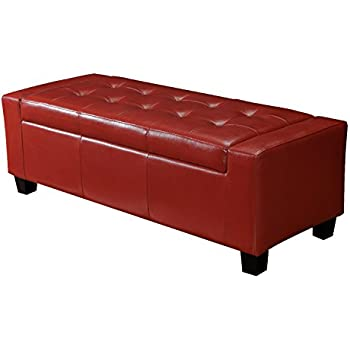 Amazon Com Joveco Rectangular Red Button Tufted Bonded