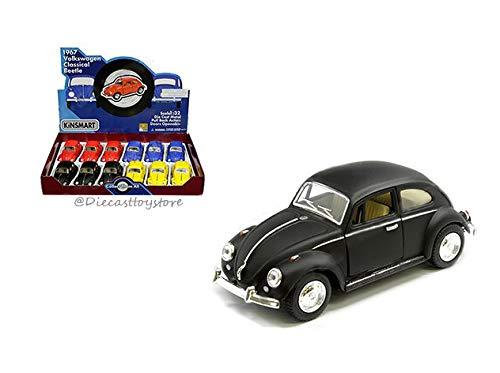 DIECAST 1:32 Display - 1967 Volkswagen Beetle (Flat/Primer Colors)(Black,Blue,RED,Yellow) Set of 4 KT5057DM by KINSMART