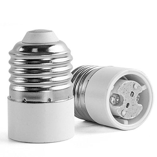 (AWE-LIGHT 6-Pack E27 E26 to MR16 GU5.3 - Standard E26/E27 Screw Base to MR16 GU5.3 Base LED Light Lamp Adapter Holder Converter)