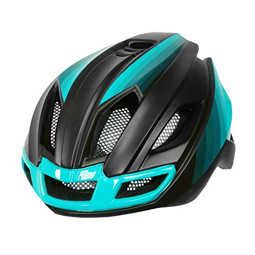 Black rainbow Back Light Bicycle Bike Helmet Integrally Molded