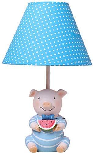 Regalo luz del dormitorio lámpara de mesa de resina azul de la ...