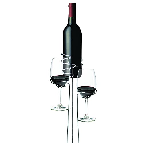 True 0852 Picnic Stix Wine and Glass Bottle Holders, Set of 3, Silver