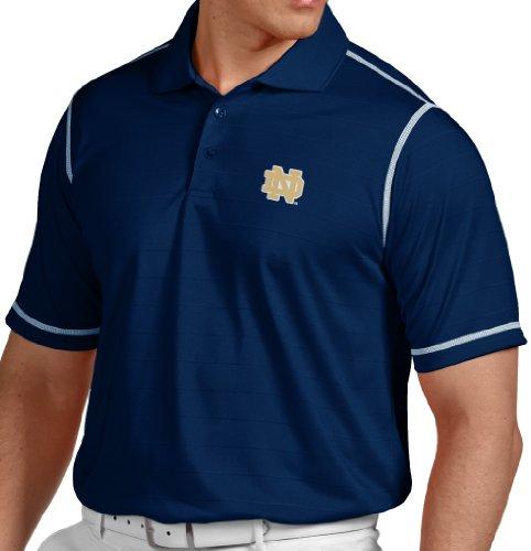 "Notre Dame Fighting Irish Antiqua NCAA ""Icon"" Performance Polo Shirt - Navy"