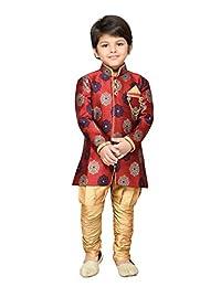 AJ Dezines Kids Indian Ethnic Sherwani Suit Set for Boys