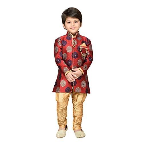 41QK6t1O99L. SS500  - AJ Dezines Kids Festive Sherwani for Boys