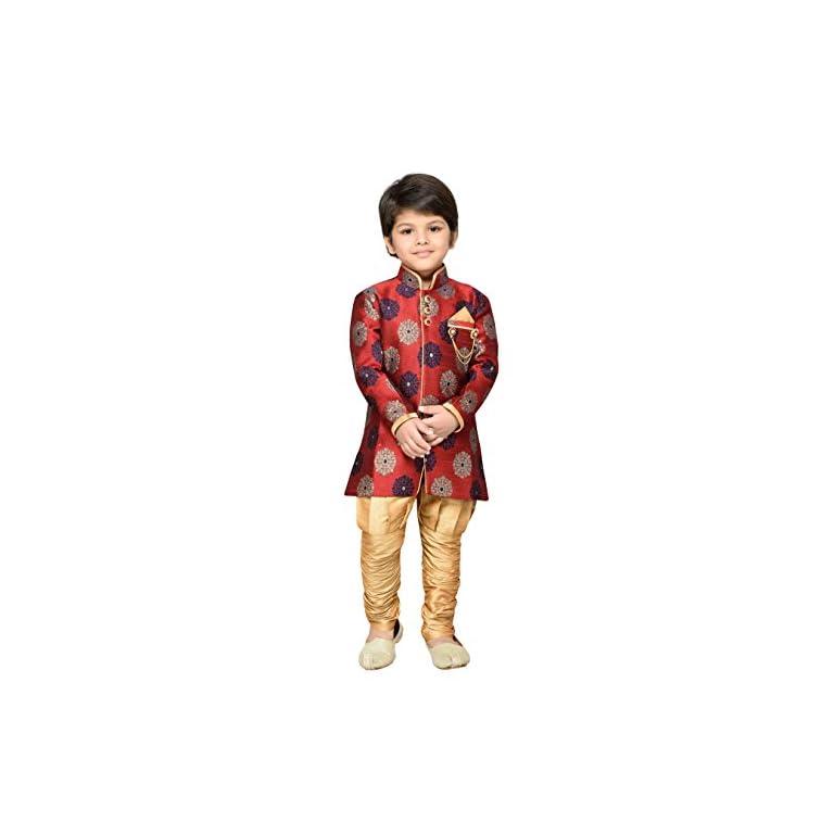 41QK6t1O99L. SS768  - AJ Dezines Kids Festive Sherwani for Boys