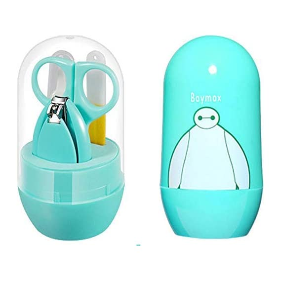 Babyshower Infant and Toddler Blue Grooming Kit with Scissors Pocket Size Nail Care Set