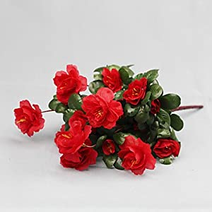 HJLHYL Artificial Flower Bright Color Rhododendron Silk Flower for Wedding and Decorative , rose 69