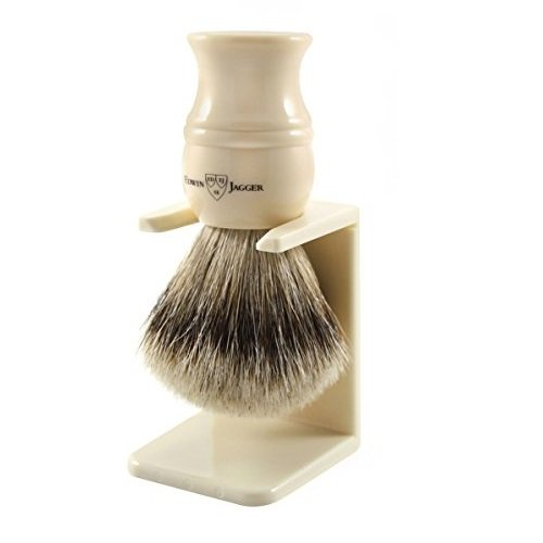 Edwin Jagger Super Badger - Brocha de afeitar, color blanco Edwin Jagger ES 3EJ337LDSAMZ