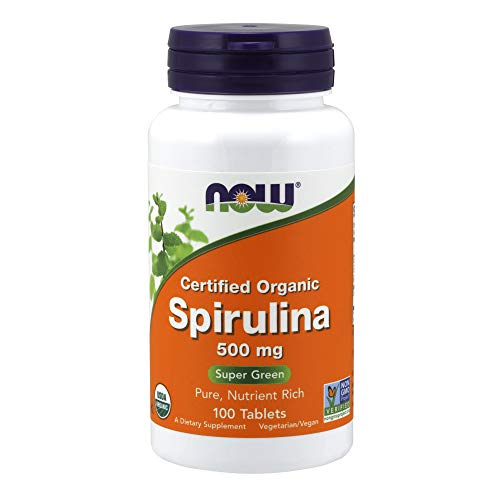 Now Foods Organic Spirulina Tablets, 100