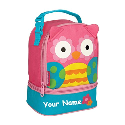 - Stephen Joseph Personalized Pink Owl Lunch Pals Lunch Box Bag