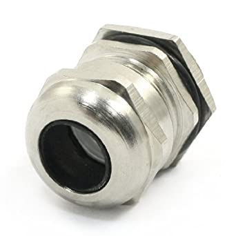 El tono de Plata de Acero inoxidable M24 x 1, 5 8-13mm Cable ...