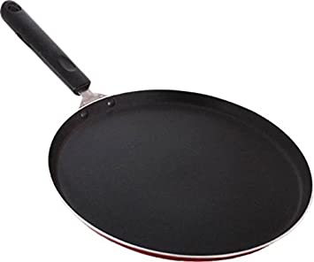 Roti Tawa Dosa Tawa Pancake Pan Dosa Tava Roti Pan 12 inch Crepe Pan by EVERSHINE PFOA-free Nonstick Hard-Anodized Aluminium Dosa Pan Roti Tava