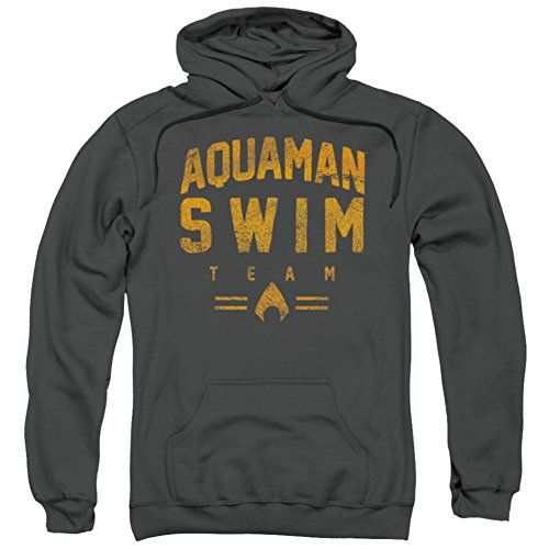 Hoodie: Aquaman- Swim Team Pullover Hoodie Size L by Trevco