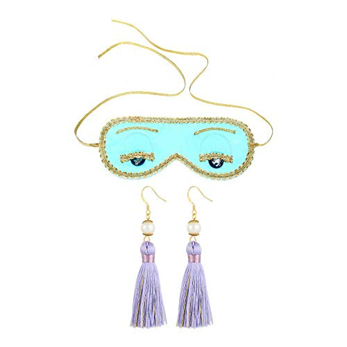Sleep Eye Mask and Earrings Set, Audrey Hepburn - Breakfast at Tiffany's