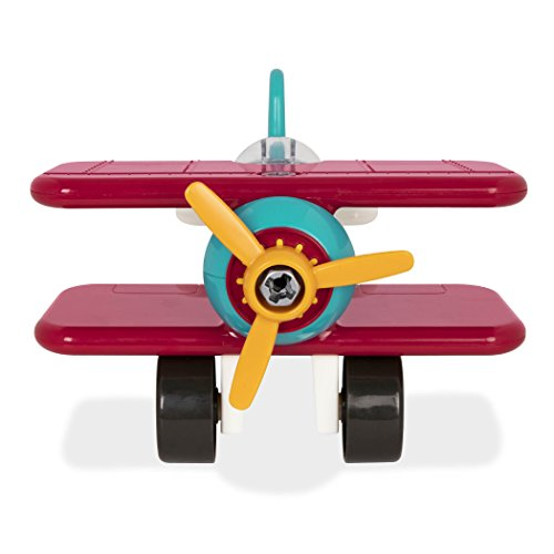 Battat – Take Apart Airplane – Toy vehicle assembly playset with functional battery powered drill Early childhood developmental skills toy for kids aged 3 and up
