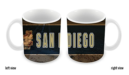 BleuReign(TM) Hashtag San Diego #SanDiego Baseball Team 11oz Ceramic Coffee Mug]()
