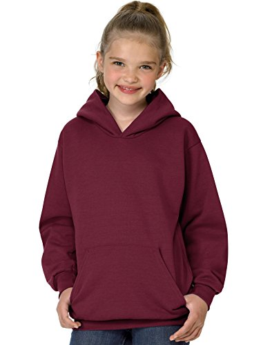 Youth Hoodie Maroon (Hanes Youth ComfortBlend EcoSmart Pullover Hoodie,,Maroon,,XL)