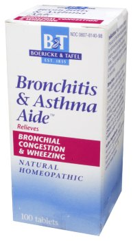 Boericke & Tafel - Bronchitis & Asthma Aide, 100 sublingual tablets