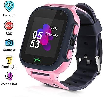 Openuye Niños Smartwatch, Smartwatch Phone con rastreador LBS, SOS ...
