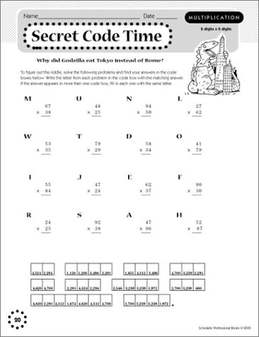 40 Fun-tabulous Puzzles for Multiplication, Division, Decimals ...