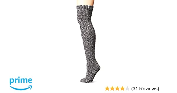 5a75c094241 UGG Women's Cable Knit Sock, charcoal heather, O/S at Amazon Women's ...