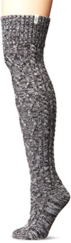 Ugg Boots Socks (UGG Women's Cable Knit Sock, Charcoal Heather, O/S)