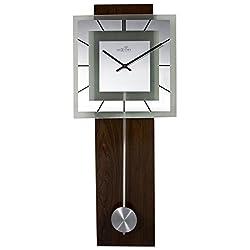 NexTime Pendulum 3144Retro Square Wall Clock with Glass Face 80x 32x 6.8cm